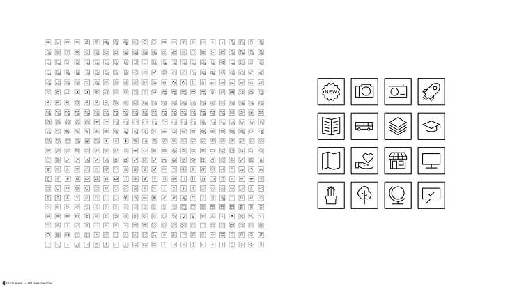 540 Minimalist Icon Set