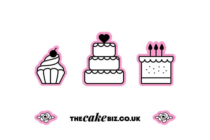 "Individuelle Illustrationen; ""The Cake Biz"" Meet the Cakes"