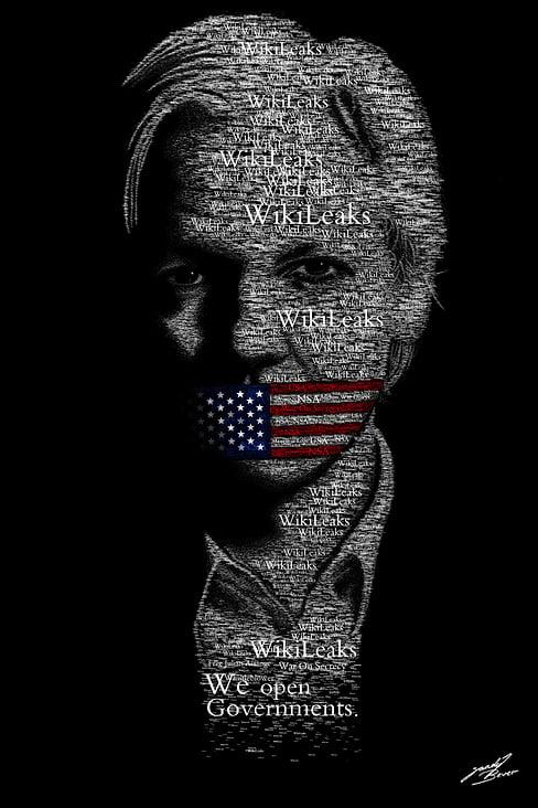 Julian Assange Typografie– Adobe Photoshop