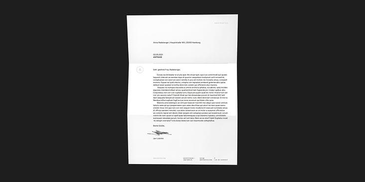 Abstraktus– Briefpapier