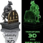 """""""3D: virtuelle Figur wird zur realen Skulptur"""" von Martin Bremm"""