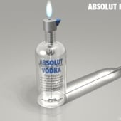 """Absolut Vodka – Feuerzeug"" von BrainMind Ltd."