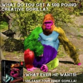 """500 lbs. Creative Gorilla"" from Kenneth Shinabery"