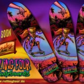 """""""Rolling Four Skateboards"""" von Andreas Gillmeister"""