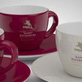 """""""Corporate Design / Restaurant Sankt Petersburg"""" von AG Visuell / Alexander Gelin"""