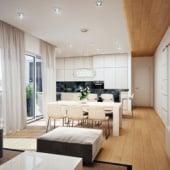 """""""Wohnzimmer 3D Visualisierung"""" von Render Vision"""