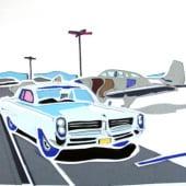 """Automobile Illustrations– Cut out"" von Brent Debecker"
