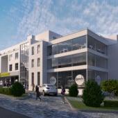 """""""Mehrfamilienhaus mit einem Biomarkt"""" von Render Vision"""
