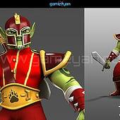 """3D-Kriegers-Geschöpf Character Animation"" from GameYan Animation Studio"