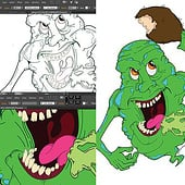 """Ghostbusters—Slimer"" von Kenneth Shinabery"