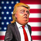 """Karikatur Donald Trump"" von Udo Graf"