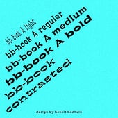 """bb-book A and bb-book contrasted"" from Slanted Publishers"