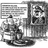 """""""Karikatur"""" von Matthias Adolphi"""