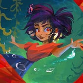 """Kajua and the Fish Fairy"" von Viola Sponagel"