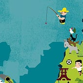"""""""Deutschland/Frankreich Poster"""" von Ina Meillan"""