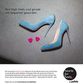 "Agencies: ""1/1 Print-Anzeige hearts for heels"" from Deluxe Travel 