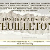 """Dramatisches Feuilleton, theatrale Presseschau"" from Gabi Schluttig"