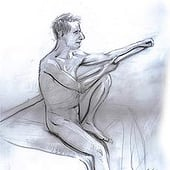 """Pencil Live Study"" von Franklin Ponceoyola"