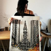 """architecture watercolor"" von Andrea Braun"