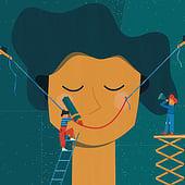 """""""Editorial Illustration – Emotionsarbeit"""" von Karolin Ohrnberger"""