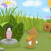 """""""Kinderbuchillustration"""" von Justine Galas"""