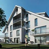 """""""Architekturvisualisierung Mehrfamilienhaus"""" von Render Vision"""