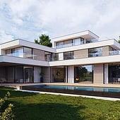 """""""Architekturvisualisierung Bauhaus-Villa, München"""" von Render Vision"""