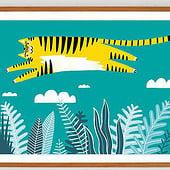 """""""Überflieger Tiger"""" von Frederick Strasche"""