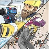 «Bosch Professional Online Kampagne Storyboards» von Oliver Brandt