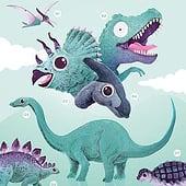 «Dinosaurier Poster» von Ellen Schinke