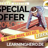 "Designers: ""20%– Summer Special"" from Learning Hero | E-Learning & Erklärfilme"