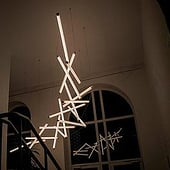 """Lichtinstallation Tensegrity"" von White Lime Produktdesign & Industriedesign"