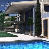 """Designer: """"Modern House Exterior – Concept Art"""" von Franklin Ponceoyola"""