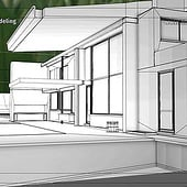 """""""Project: Modern House – Exterior Modeling"""" von Franklin Ponceoyola"""