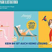 """""""Illustrationen für die Unterwäschemarke Sloggi"""" von Melina Günther"""