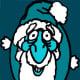 weihnachtsmann blau