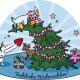 Vektor-Illustration | Weihnachtskarte