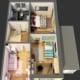 3D-Grundriss Obergeschoss