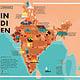 Illustrierte Karte von Indien