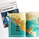 Illustrierte Mexiko Karte in Kaleidoskop– Das Magazin der Würth Gruppe