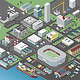 Isometrische Stadtkarte