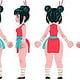 Noodle Girl turnaround