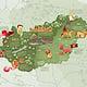 Illustrierte Karte von Ungarn