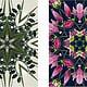 """Flowers on Speed"" 9, digital collage"