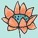 Abstrusa-Illustration-Schnabel-auf-Blume