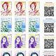 Sticker-Set in Briefmarken-Optik–  Frauen der IT-Geschichte